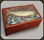 Sculpted fish box by Jim and Holly Cutting