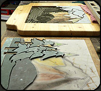 How we make our table top mosaics step 2.