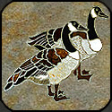 Two geese stone mosaic.